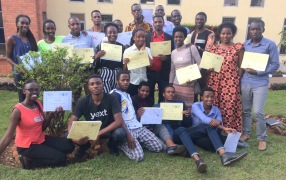 Graduation of the new AVP Learning Facilitators after the AVP Training of Facilitators in September 2019