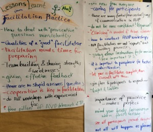 Lessons Learnt from facilitation practice